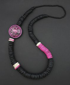 Pink and Black Necklace by DorothySiemens, via Flickr