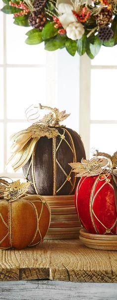 Autumn Decorating Pumpkins