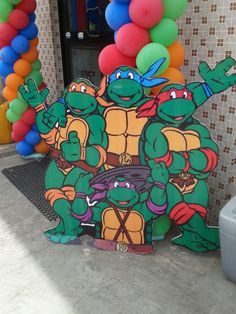 Ninja turtles prop at the entrance