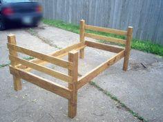 Custom rustic custom rustic wood book for High platform bed plans