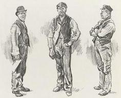 Old dock hands. Victorian Men, Victorian London, Edwardian Era, Edwardian Fashion, 1890s Fashion, Peter And The Starcatcher, Blue Stockings, London History, Steampunk Clothing