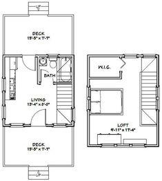 20x30 Cabin w/Loft Plans Package, Blueprints & Material