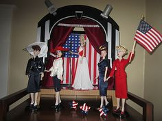 The Studio Commissary: July Dolls on Display: More Red, White and Blue!....(4 PICS)  -   Posted by Megin in Portland [Email User] on July 1, 2016, 4:37 pm.  More patriotic displays! Enjoy!