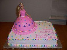 bolo com boneca barbie
