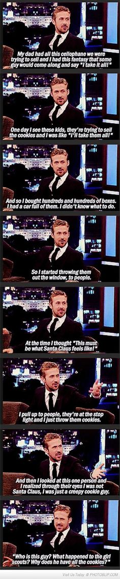 Ryan Gosling A.K.A The Creepy Cookie Guy
