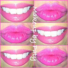 NYX lip liner in Pink Sand with Maybelline Color Whisper in Rose of Attraction.