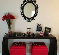Red And Black Decorations Love My Living Room