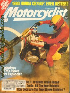 1979 KTM 420 Motocross Road Test/Specs – it just about wrenched the dyno off the floor