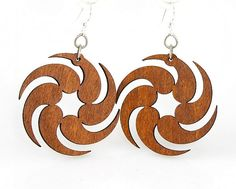 Fireball  Laser Cut Wood Earrings by GreenTreeJewelry on Etsy, $12.95