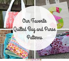 19 of our Favorite Quilted Bag and Purse Patterns | Treat yourself to a new purse from our list of bag patterns!