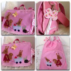 Kindergartentasche mit Turnbeutel Eichhörnchen Von Tuscheldings