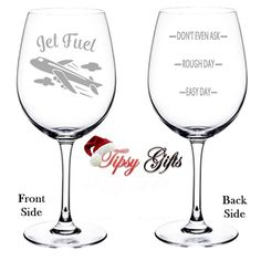 Gifts for Pilots A Pilots Wine Glass Pilot Gifts by TipsyGifts