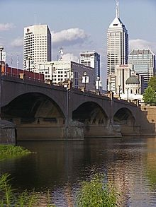 Indianapolis (one of the many bridges over White River).