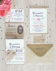 Faire-part de mariage DIY / DIY save the date
