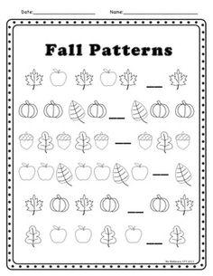 fall fall theme activities - Activity Sheets For Kindergarten