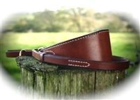 Conker Contrast Stitch Leather Lurcher Collar & Lead