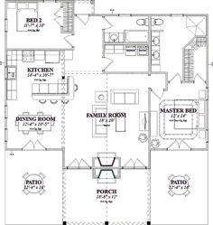 Cabin Style House Plan - 2 Beds 2 Baths 1375 Sq/Ft Plan #63-184 - Houseplans.com