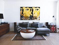 Jeg er helt VILD med dette Bjørn Agertved maleri! #legammeltoft #bjørnagertved #maleri #yellow #painting