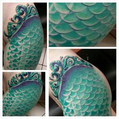 mermaid tail tattoo - Google Search