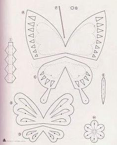 Molde para hacer una mariposa de papel : cositasconmesh