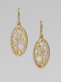 Roberto Coin: 18K Gold Diamond Bollicine Earrings