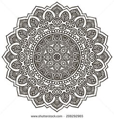 Mandala Round Ornament Pattern Vintage decorative elements Hand drawn background Islam, Arabic, Indian, ottoman motifs