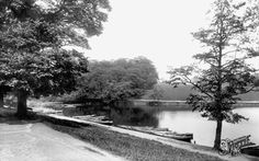 Old photo of Roundhay Park Boat Station 1897, Leeds