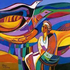 Isabelle le Roux Abstract Landscape, Landscape Paintings, Watercolor Paintings, Abstract Art, Landscapes, South African Artists, Naive Art, Art Boards, Art Images