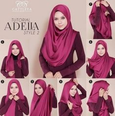 How To Wear Silk Hijab - Tutorial - Hijab Fashion Inspiration Silk hijabs are so elegant and spruce up any outfit to make it look special, stylish and fashionabl Turban Hijab, Hijab Dress, Hijab Outfit, Hijab Chic, Stylish Hijab, Square Hijab Tutorial, Hijab Style Tutorial, How To Wear Hijab, How To Wear Scarves
