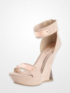 55792fd0eb8f Bamboo Buff Brushed Velvet Ankle Strap Wedges  copper  neutral  shoes   sandals
