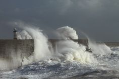 Giant Waves at Newhaven, East Sussex