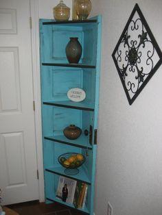 Repurposed Doors | Repurposed door shelf