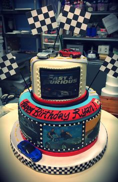 Fast and Furious Birthday Cake - Adrienne & Co. Bakery