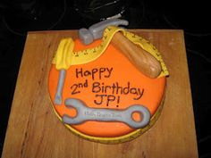 Tool Cake for our 2 year old boy!  Made by Sadie Patrick!  Amazing job!!!!