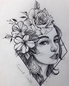 Unique 30 sunflower small tattoos design ideas for women Dark Art Drawings, Pencil Art Drawings, Cool Drawings, Girl Drawing Sketches, Art Drawings Sketches Simple, Sketch Tattoo Design, Tattoo Designs, Arte Sketchbook, Desenho Tattoo