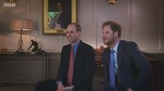 Prince William and Prince Harry watch and react while watching home movies of Princess Diana, Peter and Zara Phillips with Prince Harry at his christening Prince William And Harry, William Kate, Prince Charles, Prince Harry, Royal Princess, Princess Diana, Duchess Of Cornwall, Duchess Of Cambridge, English Royal Family
