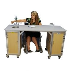 ADA Accessible #PortableSink For Science Lab Model Provides Ample Room For A Student In A Wheelchair To Use The Workstation. Buy This Sink Model Online Only @ $2186.00.