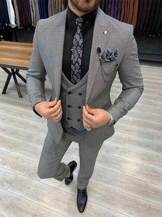 Deo Suits – BOJONI Grey Slim Fit Suit, Slim Fit Tuxedo, Mens Suits Online, Classy Suits, Pantalon Costume, 54 Kg, Suits For Sale, Fitted Suit, Wool Suit