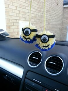 MINION POMPOM CAR PALS - The Supermums Craft Fair