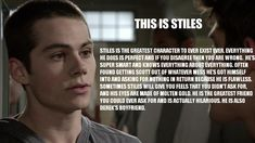 Stiles Stilinski (Dylan O'Brian) has the intimidation factor of a puppy. Description from pinterest.com. I searched for this on bing.com/images