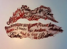 embroidered text ... not sure who made it