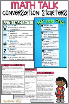 This Math Talk bulletin board is a fantastic reference poster of sentence starters for first, second, third, fourth and fifth grade students. The Math talk anchor chart lists stems to help kids explain their thinking during problem solving. #mrswintersbliss #teachingmath #firstgrade #thirdgrade #secondgrade #mathtalk #mathdiscourse