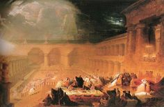 John Martin  British, 1789 - 1854  Belshazzar's Feast (to compare)