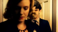 "Bel Rowley (Romola Garai) and Freddie Lyon (Ben Whishaw) in BBC ""The Hour"" 