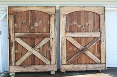 barn doors made from walls and floors of a barn