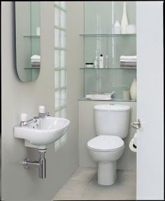 Clever Glass Shelving can make all the difference in a small bathroom vanities suite glass reflects light so give a feeling of space as well as housing any necessary clutter