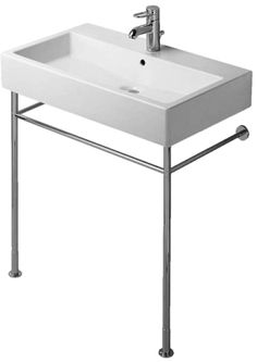 Duravit 0030661000 Metal Bath Sink Console Only For 045480 In Chrome  favorite and not pricey