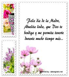 mensajes de texto del dia de la Madre para la Abuelita, sms del dia de la Madre para la Abuelita: http://www.datosgratis.net/frases-por-el-dia-de-la-madre-para-mi-abuelita/