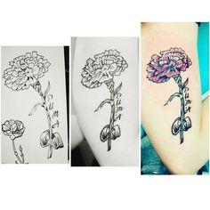 #carnation #carnationtattoo #tattoo #tattooart                              …