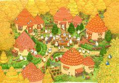 ちっぷのイラスト - yaseinosyokoku ページ! Kawaii Illustration, Forest Illustration, Really Cool Drawings, Beautiful Drawings, Cute Animal Drawings, Cute Drawings, Cute Chibi, Cute Bears, Illustrations And Posters